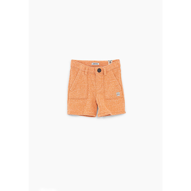 IKKS Baby boys' faded orange sweatshirt fabric Bermudas