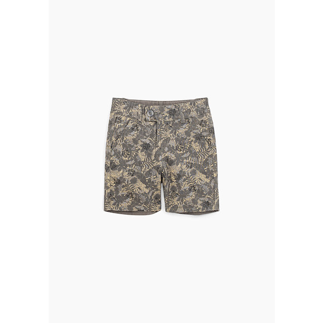 IKKS Baby boys' bronze and camouflage reversible Bermudas