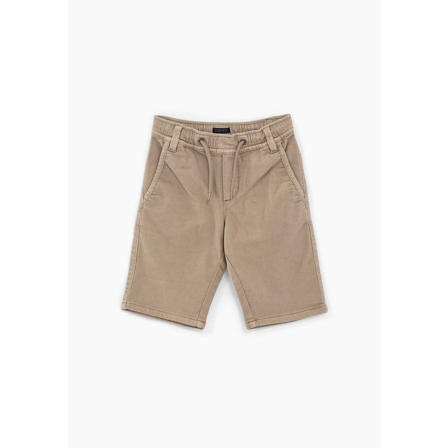 IKKS BOYS' BEIGE KNITLOOK BERMUDAS