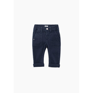 IKKS Baby boys' navy jeans with elasticated waist