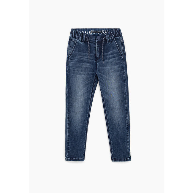 IKKS BOYS' VINTAGE BLUE EASY FIT JEANS
