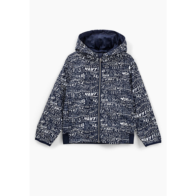 IKKS BOY'S NAVY ALL-OVER PRINT WINDCHEATER