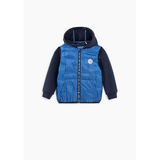 IKKS Baby boys' Pacific blue mixed fabric padded jacket