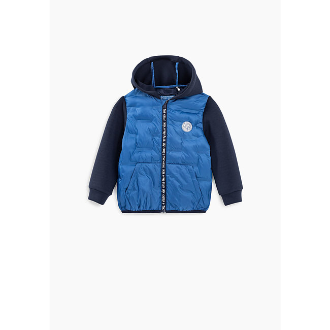 IKKS Baby boys' Pacific blue mixed fabric padded jacket