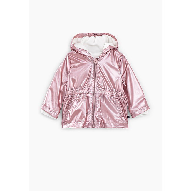 IKKS Baby girls' light pink iridescent lined + recycled trench