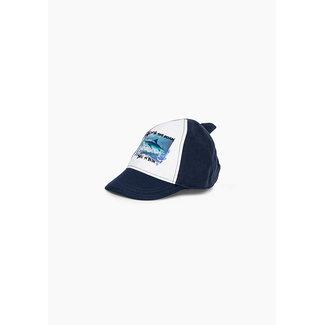 IKKS Baby boys' navy shark graphic cap
