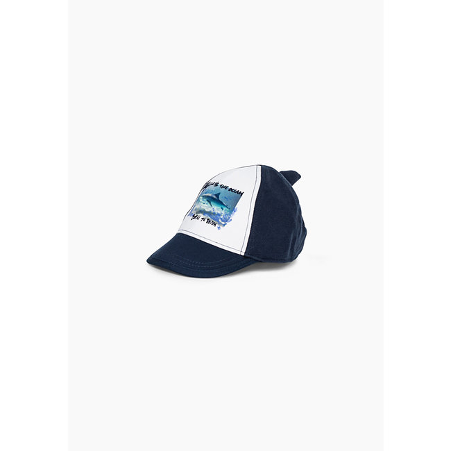 IKKS Baby boys' navy shark graphic cap