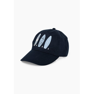 IKKS BOYS' NAVY CAP WITH 3 SURFBOARDS GRAPHIC