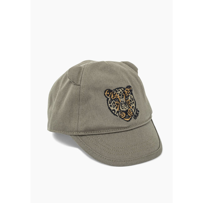 IKKS Baby boys' bronze leopard-embroidered cap