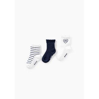 IKKS Baby girls' off-white and navy socks