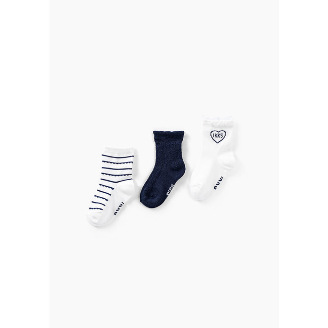 IKKS Baby girls' off-white and navy socks