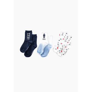 IKKS BOYS' NAVY, WHITE AND BLUE SOCKS