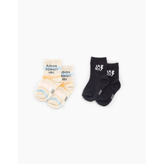 IKKS Baby boys' sand and faded black socks
