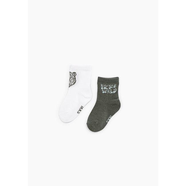 IKKS Baby boys' bronze and white socks