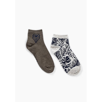 IKKS BOYS' KHAKI AND GREY SOCKS