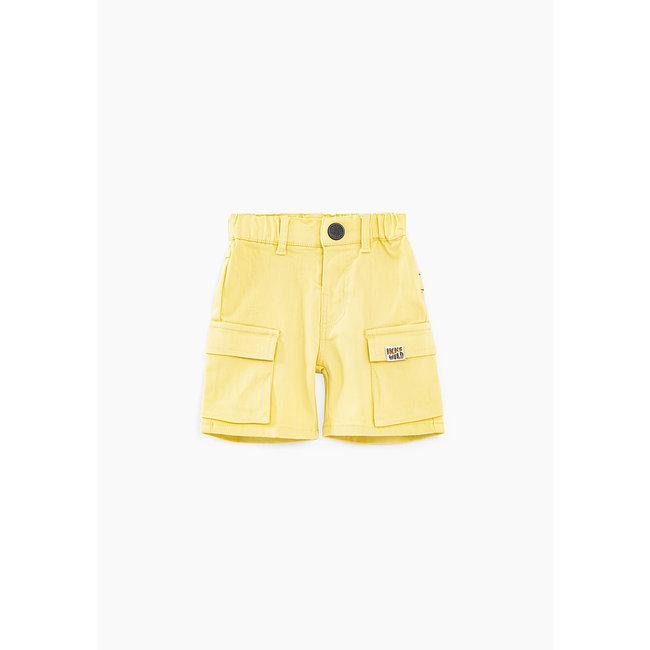 IKKS Baby boys' yellow combat Bermudas