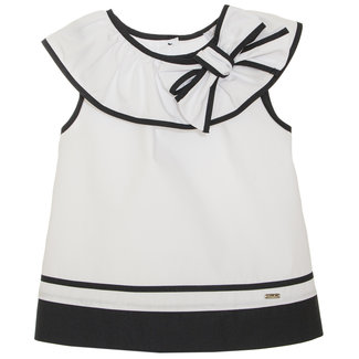 PATACHOU WHITE POPELINE TOP
