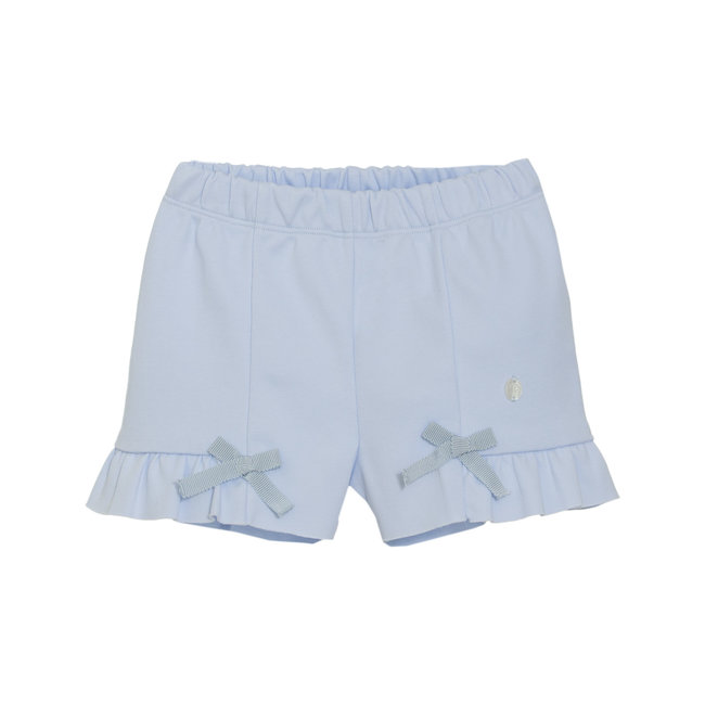 PATACHOU BABY GIRLS' BLUE INTERLOCK SHORTS
