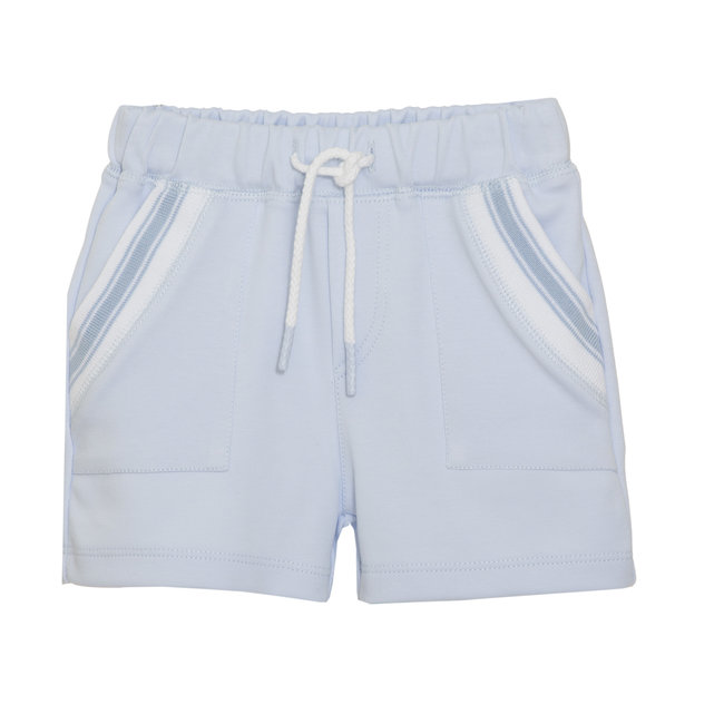 PATACHOU BABY BOYS' BLUE INTERLOCK SHORTS