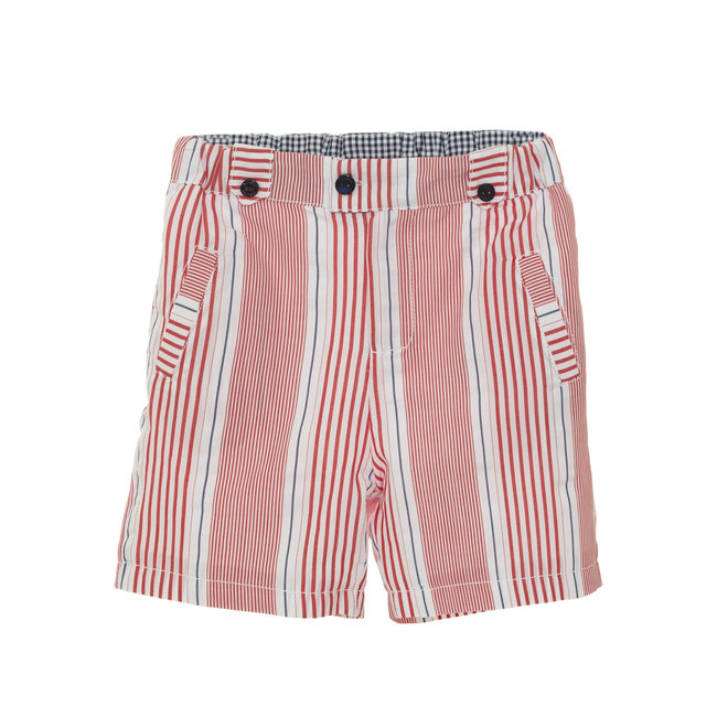 PATACHOU RED STRIPED SHORTS