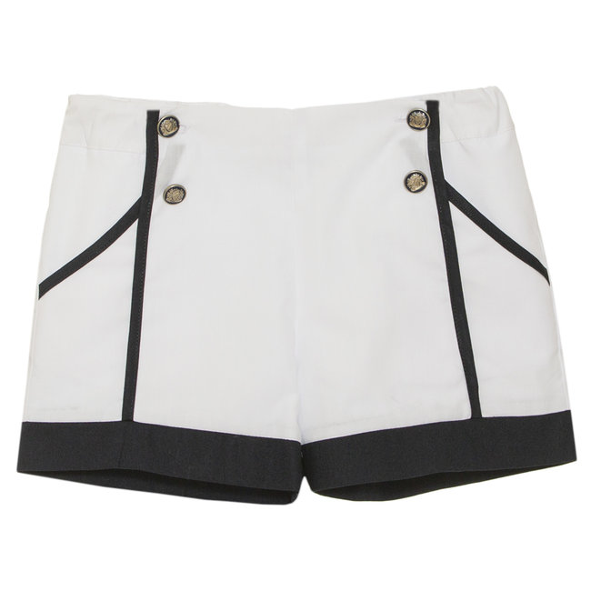 PATACHOU WHITE POPLIN SHORTS