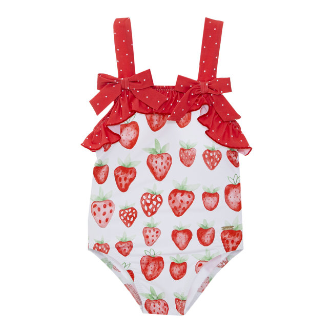 PATACHOU LYCRA PRINTED SWIMSUIT STRAWBERRY