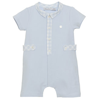PATACHOU BLUE COTTON ROMPER