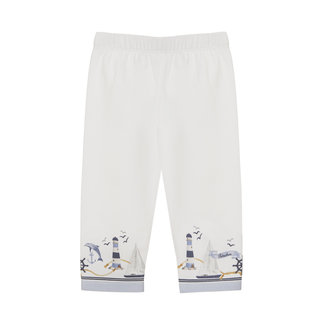 PATACHOU WHITE JERSEY LEGGINGS