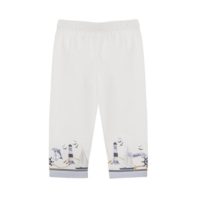 PATACHOU WHITE JERSEY LEGGINGS
