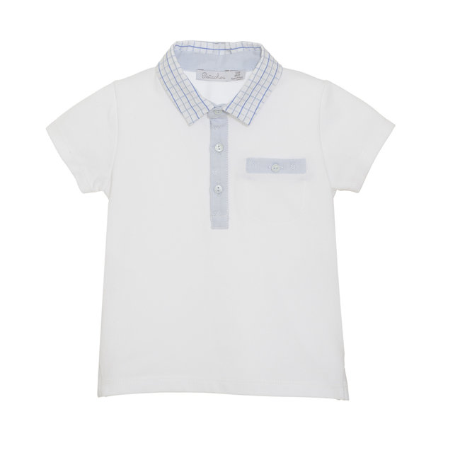 PATACHOU WHITE PIQUET POLO