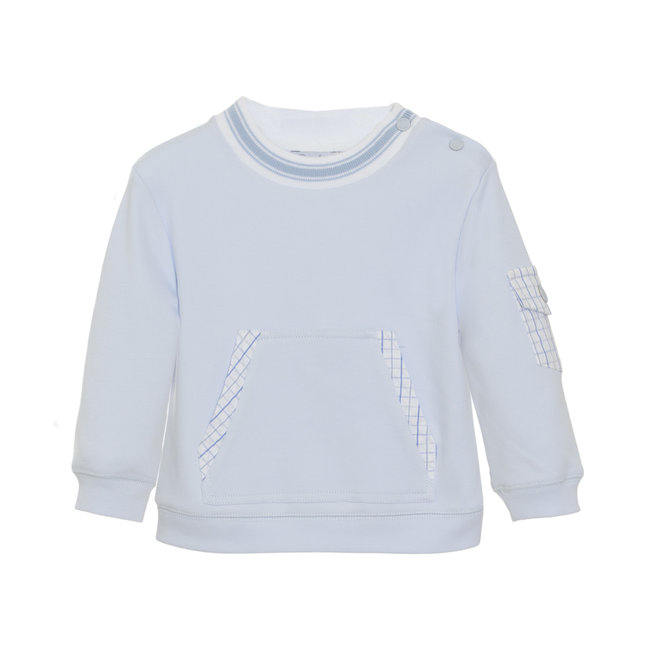 PATACHOU BLUE INTERLOCK SWEAT