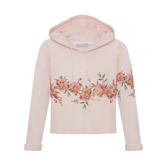 PATACHOU PALE PINK INTERLOCK SWEAT