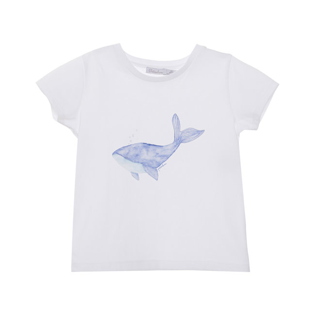 PATACHOU WHITE JERSY T-SHIRT WHALE