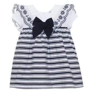 PATACHOU BABY GIRL DRESS NAVI STRIPES