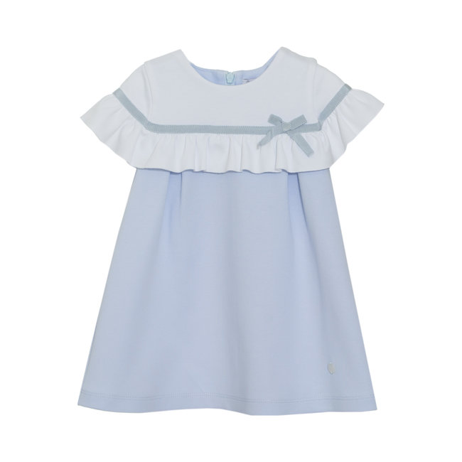 PATACHOU BLUE INTERLOCK DRESS