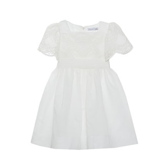 PATACHOU WHITE EMBROIDERY DRESS
