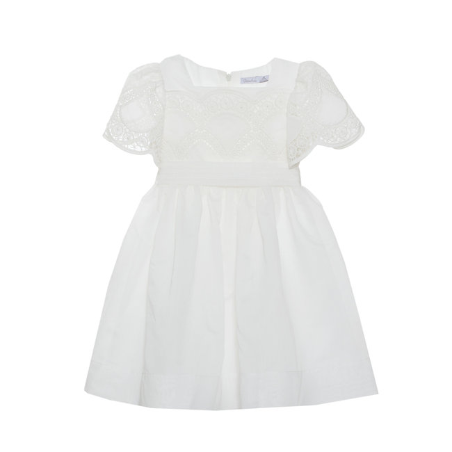 PATACHOU WHITE EMBROIDERY DRESS