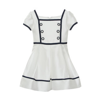 PATACHOU OFF WHITE MIKADO DRESS