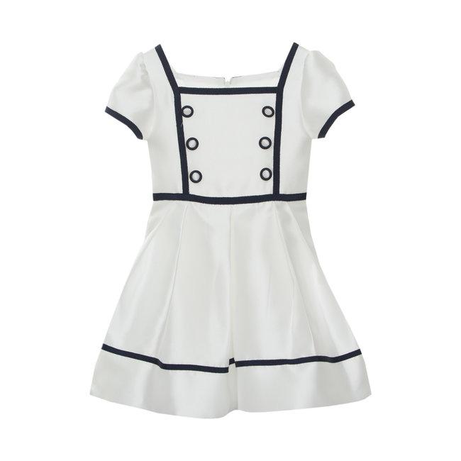 PATACHOU OFF WHITE MIKADO DRESS
