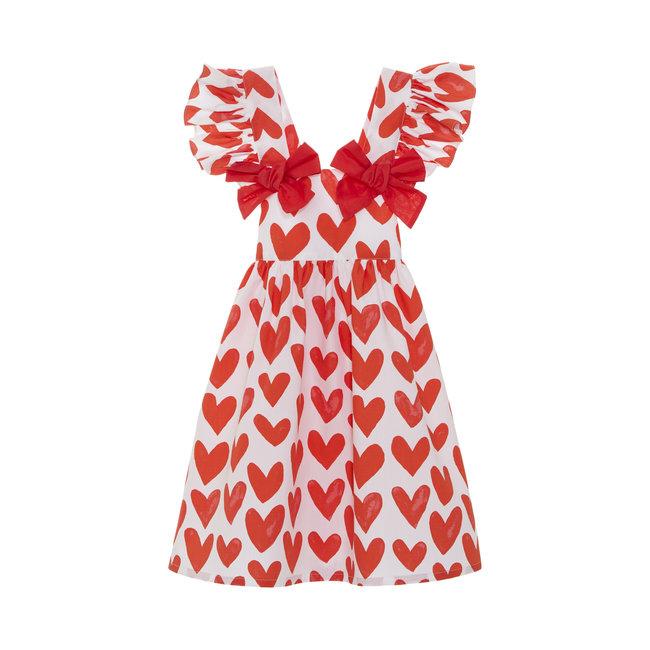 PATACHOU PRINTED BEACH DRESS HEARTS