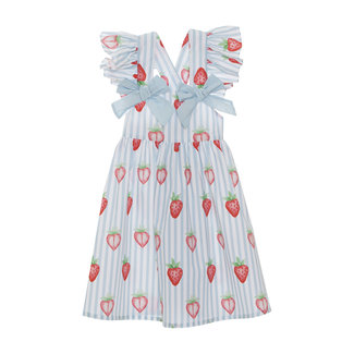 PATACHOU PRINTED BEACH DRESS STRAWBERRY