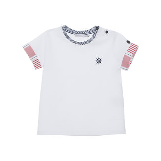 PATACHOU WHITE JERSEY T-SHIRT SMALL NAVIGATION