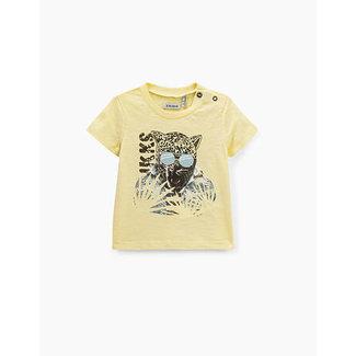 IKKS Babies' Yellow Leopard Print T-shirt
