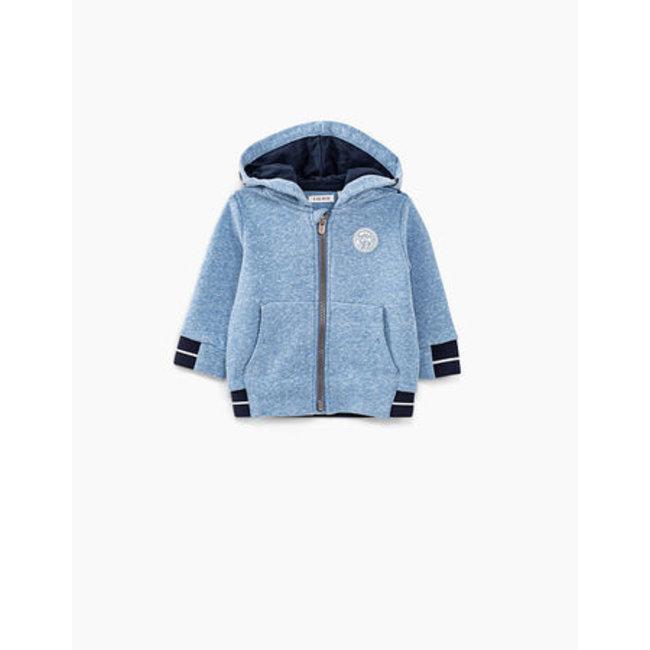 IKKS Baby boys' blue melange hoodie