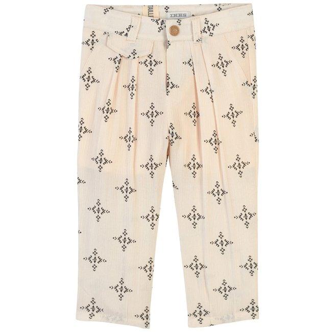 IKKS Baby girls' ecru graphic trousers in cream