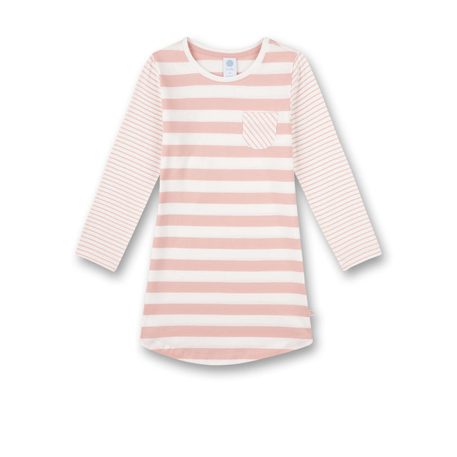 SANETTA Girls nightdress with pink stripes