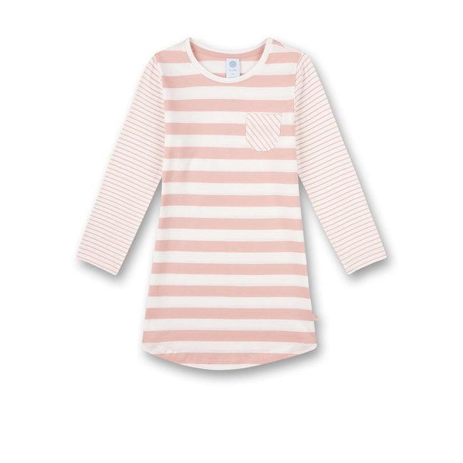 SANETTA Girls nightdress with pink stripes
