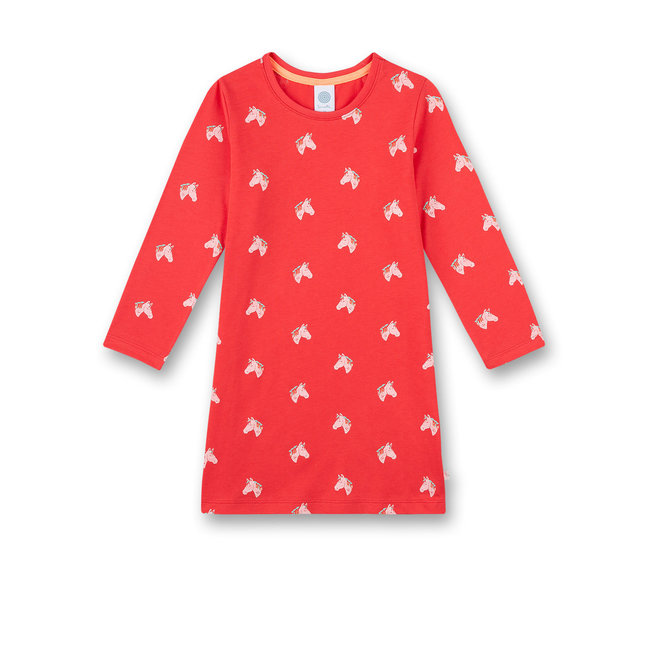 SANETTA Girls nightgown red Happy Horse