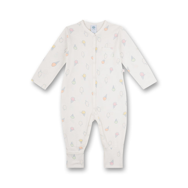SANETTA Girls jumpsuit Off-White Ice Baby