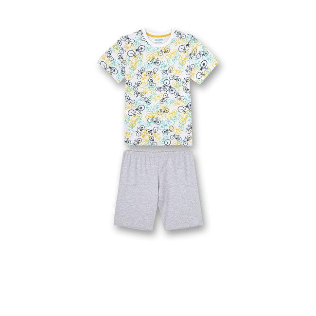 SANETTA Boys pajamas short blue biker lifestyle
